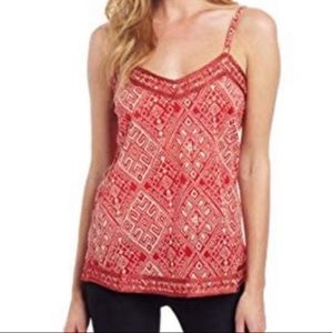 Lucky Brand with John Robshaw Embroidery tank